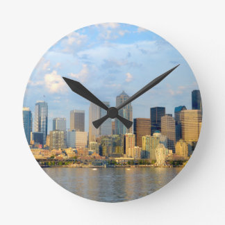 Seattle Waterfront Round Clock