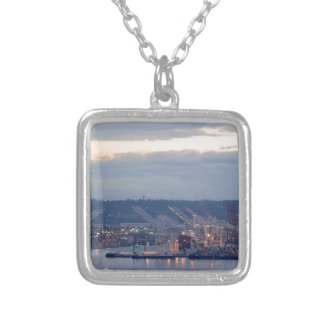 Seattle Waterfront Silver Plated Necklace