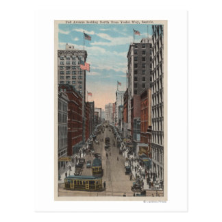 Seattle, WAView of 2nd Ave from Yesler Postcard