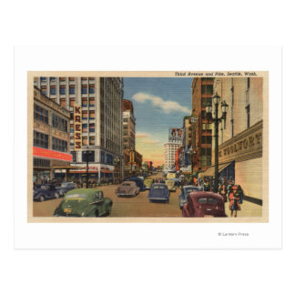 Seattle, WAView of 3rd Ave. & Pike St. Post Cards