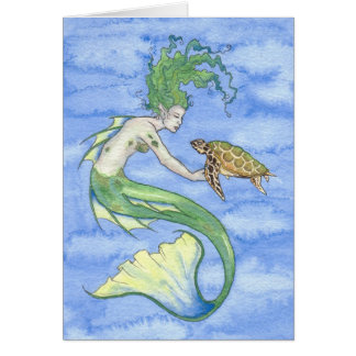 'Seaturtle' Blank Greeting Card