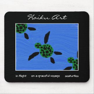 Seaturtles Haiku Art Mousepad