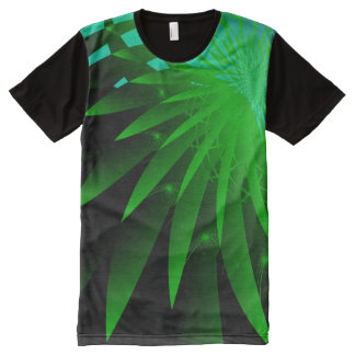 Seaweed 3 Psychedelic Abstract Fine Fractal All-Over Print T-Shirt