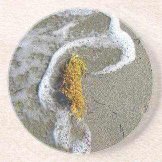 Seaweed Footprint Beverage Coasters