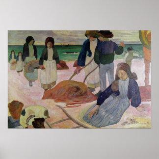 Seaweed Gatherers, 1889 Poster
