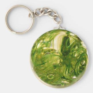 Seaweed Globe Basic Round Button Key Ring