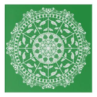 Seaweed Mandala Acrylic Print