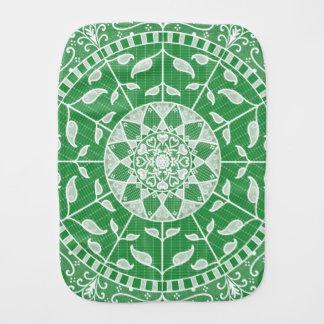 Seaweed Mandala Burp Cloth
