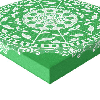 Seaweed Mandala Canvas Print