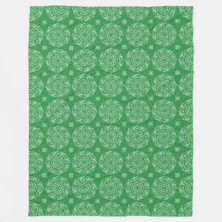 Seaweed Mandala Fleece Blanket