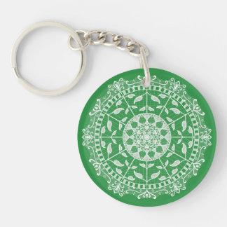 Seaweed Mandala Key Ring