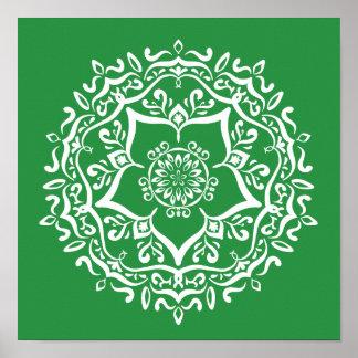 Seaweed Mandala Poster
