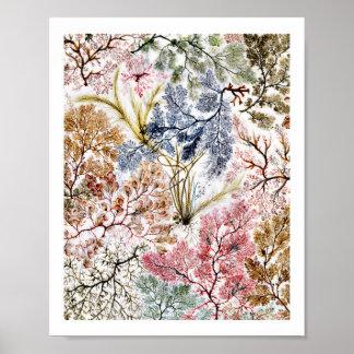 Seaweed Silk Fabric Art Poster