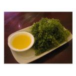 Seaweed with a lemon dip post card
