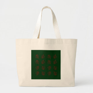 Seaweeds green large tote bag