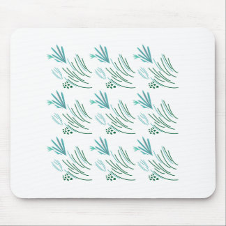 Seaweeds green on white mouse pad