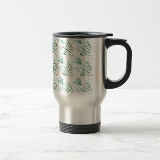 Seaweeds green on white travel mug