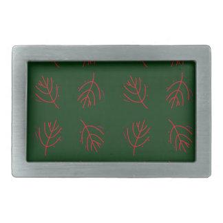 Seaweeds green rectangular belt buckle