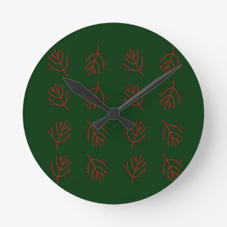 Seaweeds green round clock
