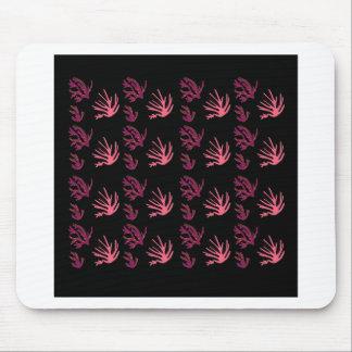 Seaweeds pink black mouse pad