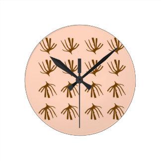 SEAWEEDS  Retro beige Round Clock