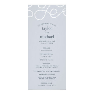 Seaworthy Wedding Ceremony Program | Fog Rack Card
