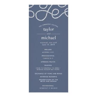 Seaworthy Wedding Ceremony Program | Slate Rack Card