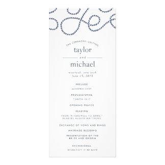 Seaworthy Wedding Ceremony Program | White Rack Card