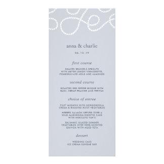 Seaworthy Wedding Menu Card | Fog