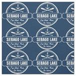 Sebago Lake Maine Personalised Town and Name Fabric