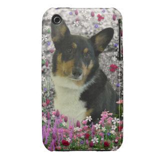 Sebastian the Welsh Corgi in Flowers Case-Mate iPhone 3 Case
