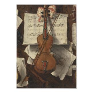 Sebastiano Lazzari Trompe - Violin and Music Notes Custom Announcements
