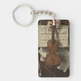Sebastiano Lazzari Trompe - Violin and Music Notes Key Ring