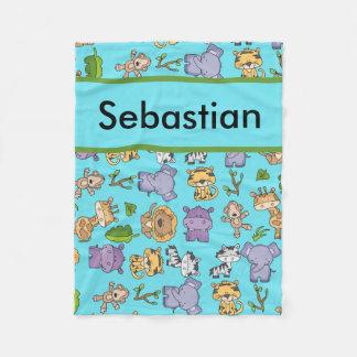 Sebastian's Personalized Jungle Blanket