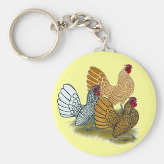 Sebright Rooster Assortment Key Ring