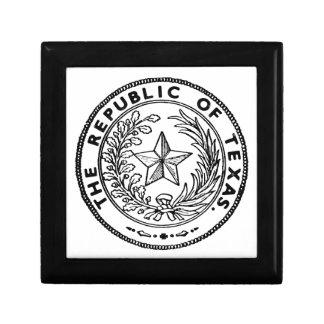Secede Republic of Texas Small Square Gift Box
