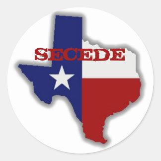 Secede Texas Classic Round Sticker