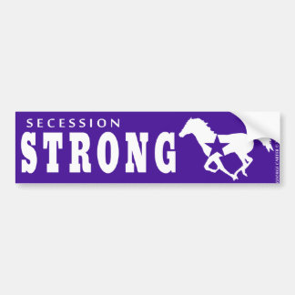 Secession Strong WIld Mustang Bumper Sticker Car Bumper Sticker