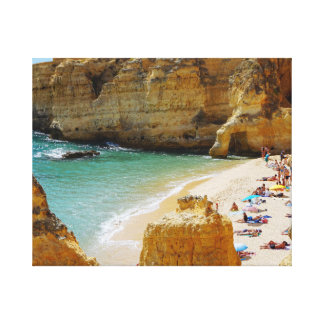 Secluded  Beach in Portugal Canvas Wrap