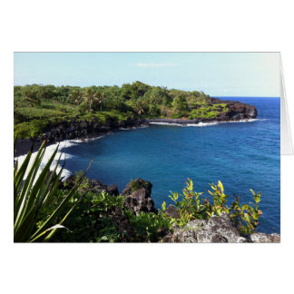 Secluded Cove in Maui, Hawaii Card