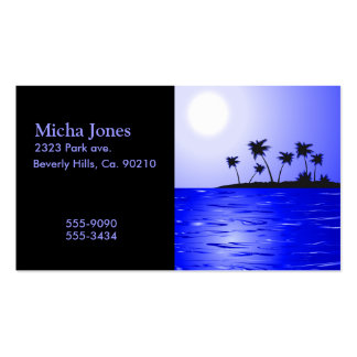Secluded Island Tropics Radiance Business Card Template