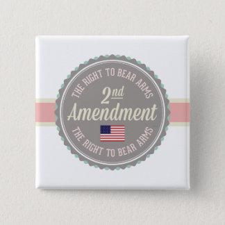 Second Amendment 15 Cm Square Badge