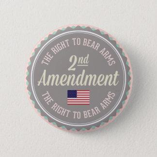Second Amendment 6 Cm Round Badge