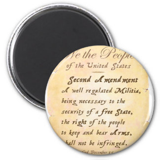 Second Amendment 6 Cm Round Magnet