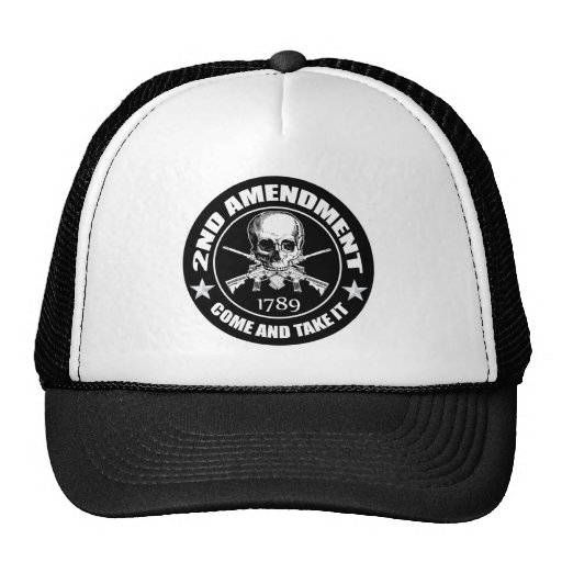 Second Amendment Come and Take It Skull and AR's Mesh Hat