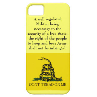 Second Amendment - Don't Tread on Me iPhone 5 Cover