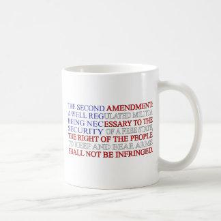 Second Amendment Flag Basic White Mug