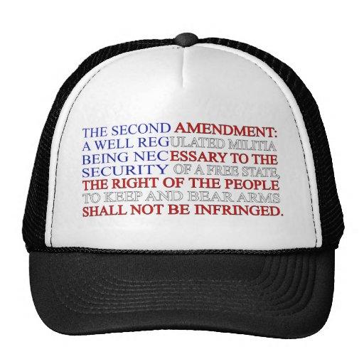 Second Amendment Flag Hats