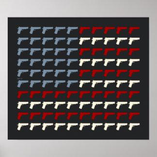 Second Amendment Flag Posters