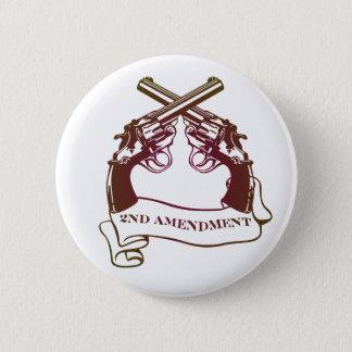 second amendment gun rights 6 cm round badge